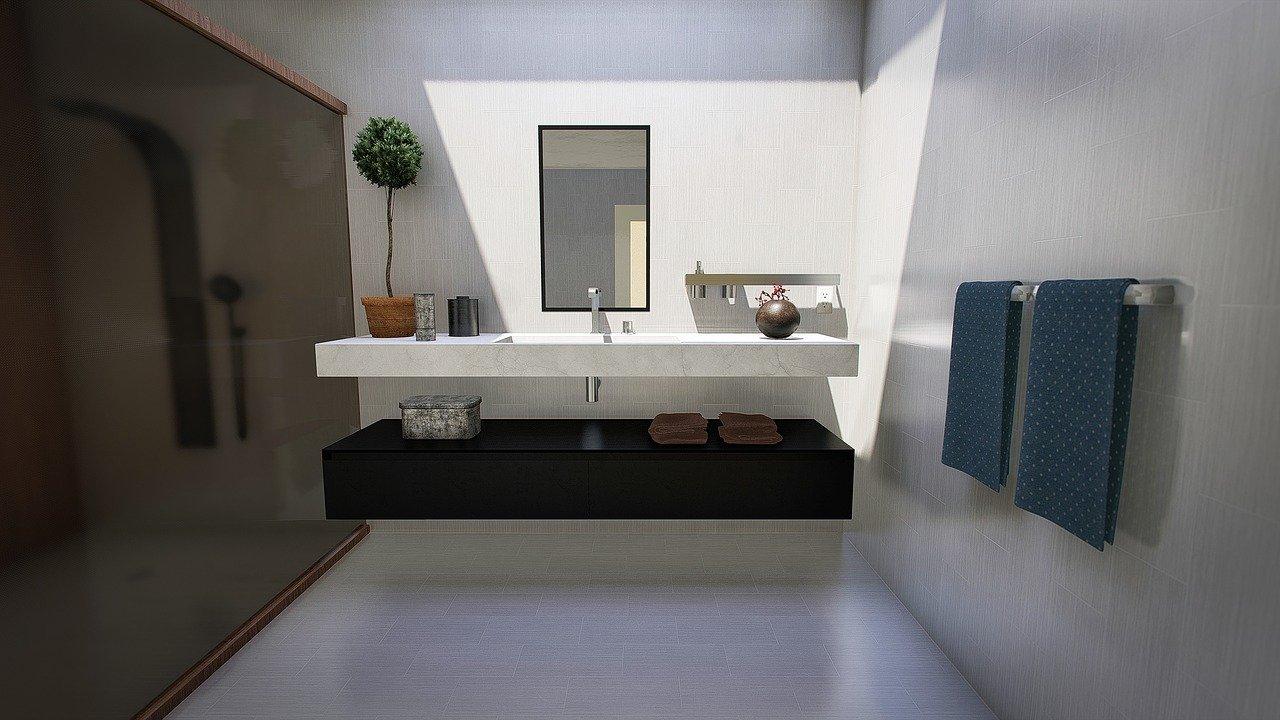 ארון אמבטיה עם כיור